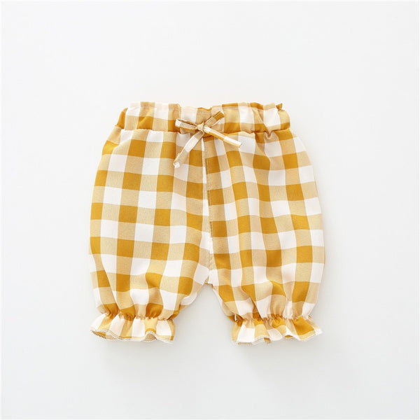 Checked Ballon Pants