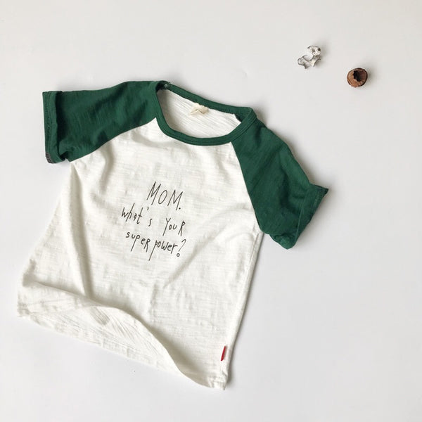 Mom Super Power Printed Baby Tshirts