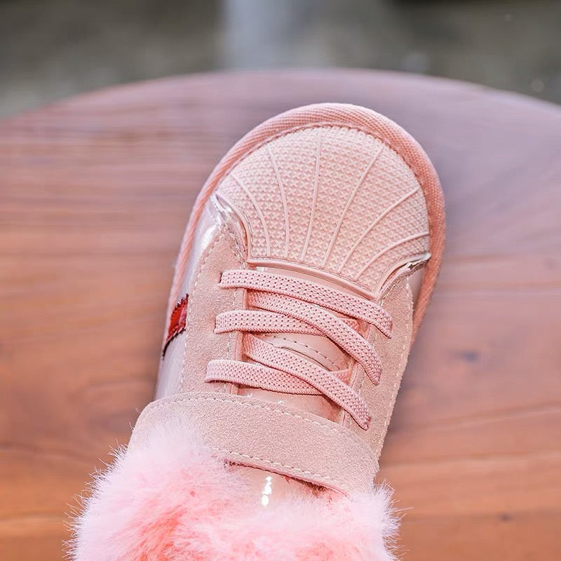 Striped Sneakers With Fleece