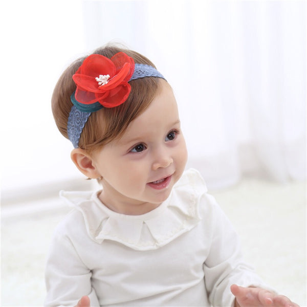 Red Flower Shaped Headband