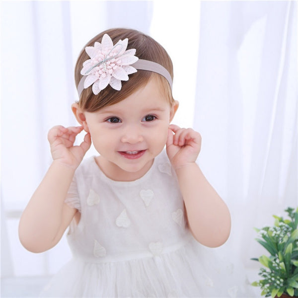 Pink Flower Shaped Headband