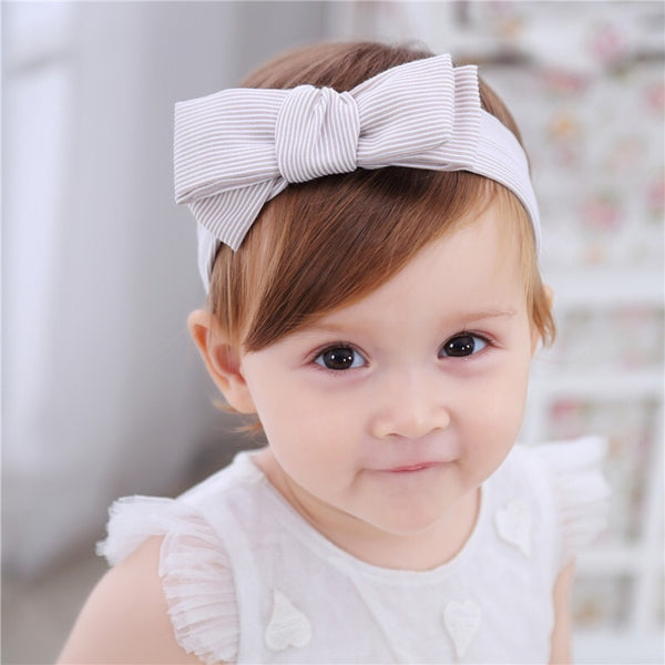 Brown Striped Bowknot Headband