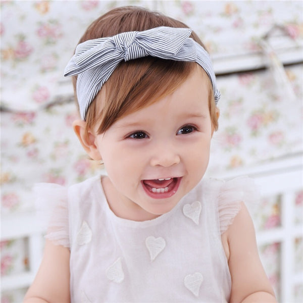 Striped Bowknot Headband