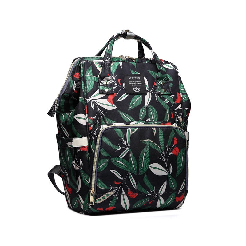 Leaf Printed Diaper Bag