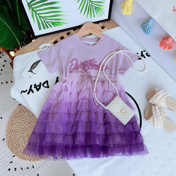 Frill Skirt Attached Dress
