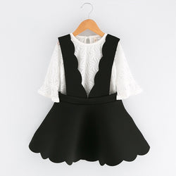 Black Skirt Dress With Tshirt