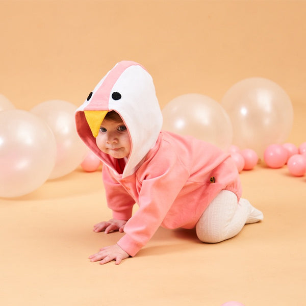 Penguin Hooded Romper