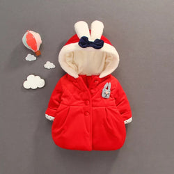 Hooded Bow Winter Jacket