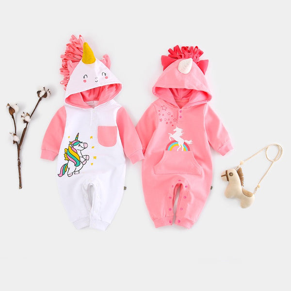 Unicorn Hooded Jumpsuit