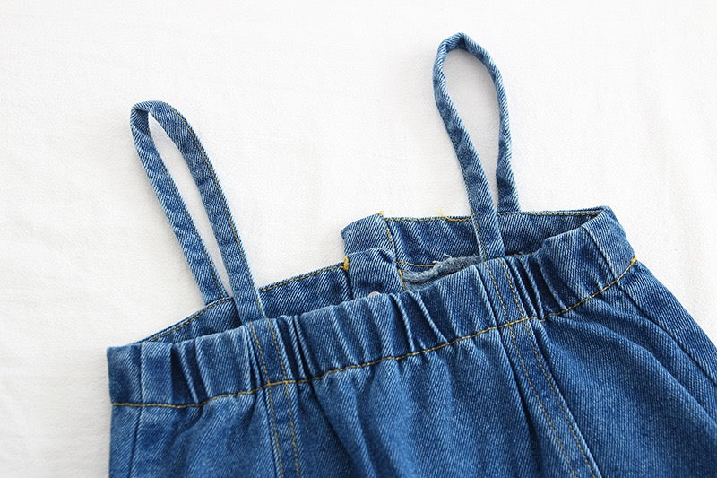 Denim Dungaree Style Dress