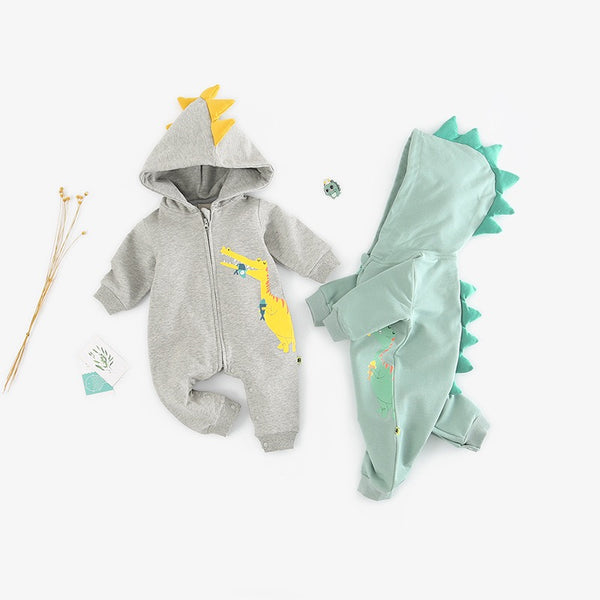 Dino Hooded Jumpsuit
