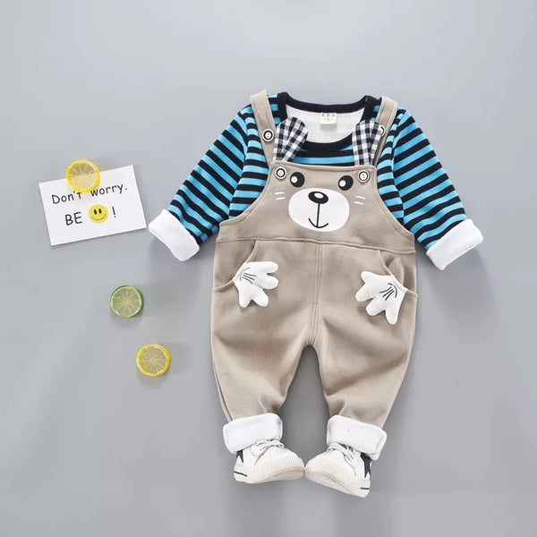 Bear Dungaree Winter Set