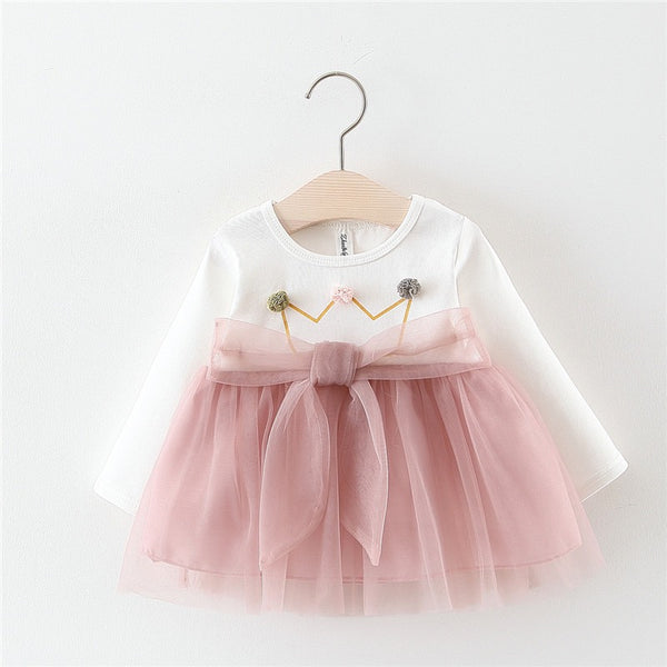 Throne Printed Baby Girl Dress