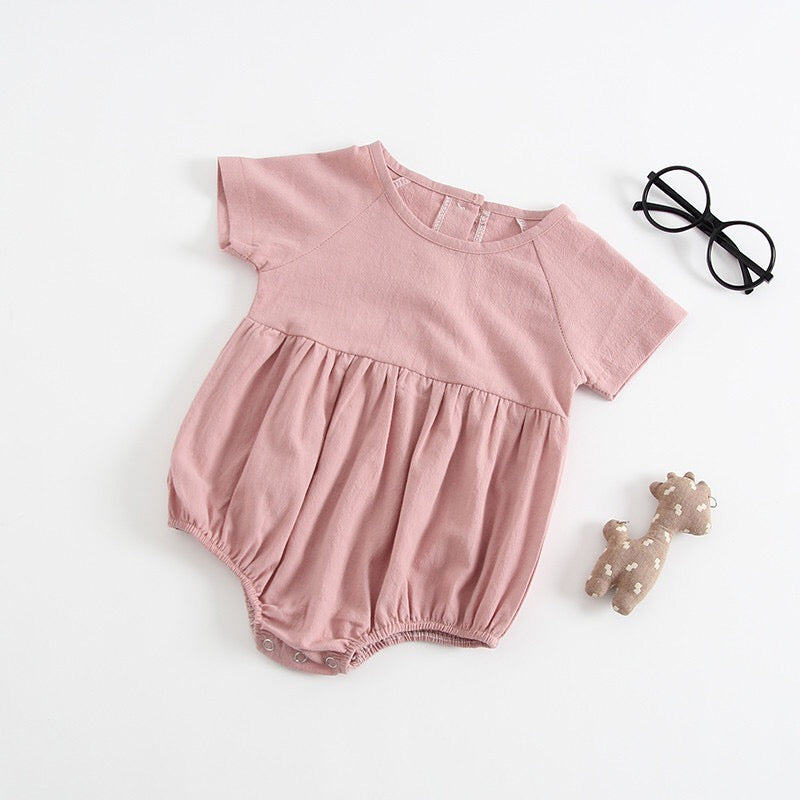 Short Sleeves Round Neck Cotton Bodysuit