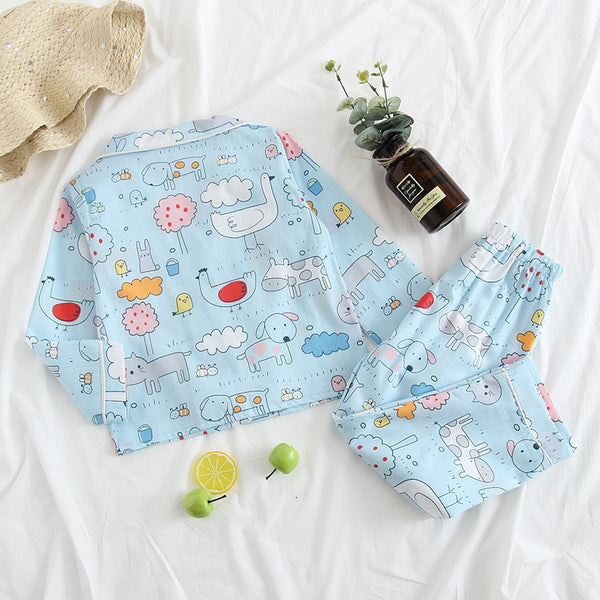 Printed Cotton Night Suit For Summer