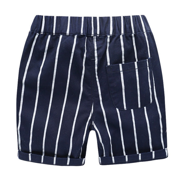 Blue Striped Summer Shorts