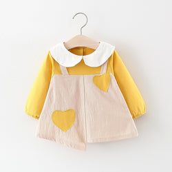 Heart Made Doll Collar Baby Dress