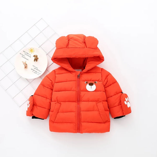 Bear Winter Jacket with Gloves