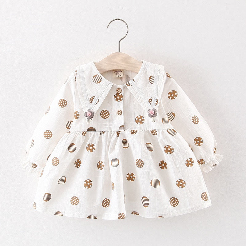 Ball Printed Long Sleeves Baby Dress