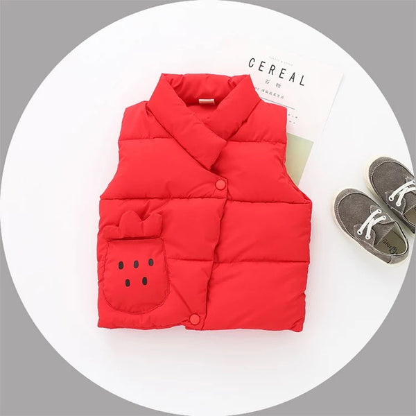 Sleeveless Winter Pocket Jacket