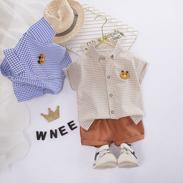 Bear Checkered Summer Set
