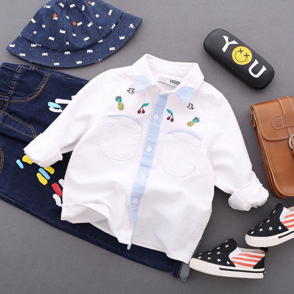 Fruit Embroidered Shirt