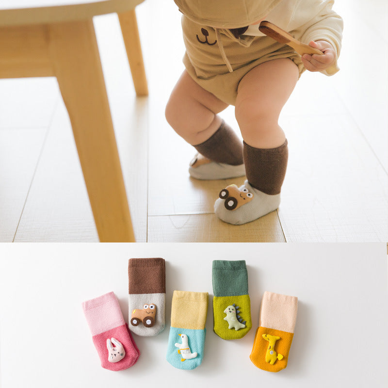 Animal Made Contrast Color Socks