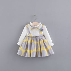 Ruffle Collar Strap Baby Girl Dress