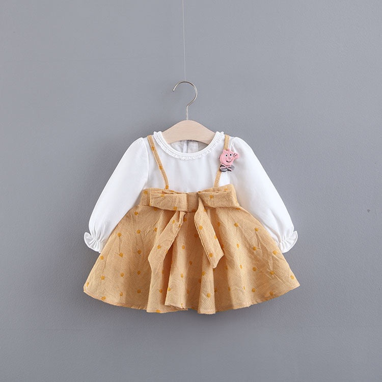 Bow Made Strap Baby Girl Dress