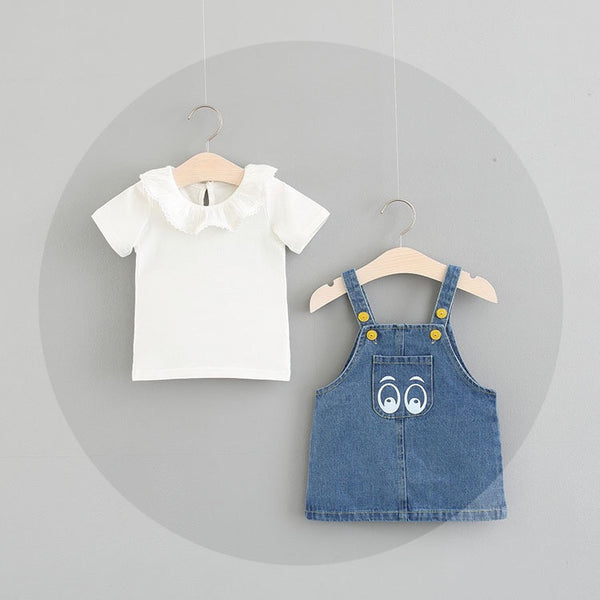 Denim Overall Set