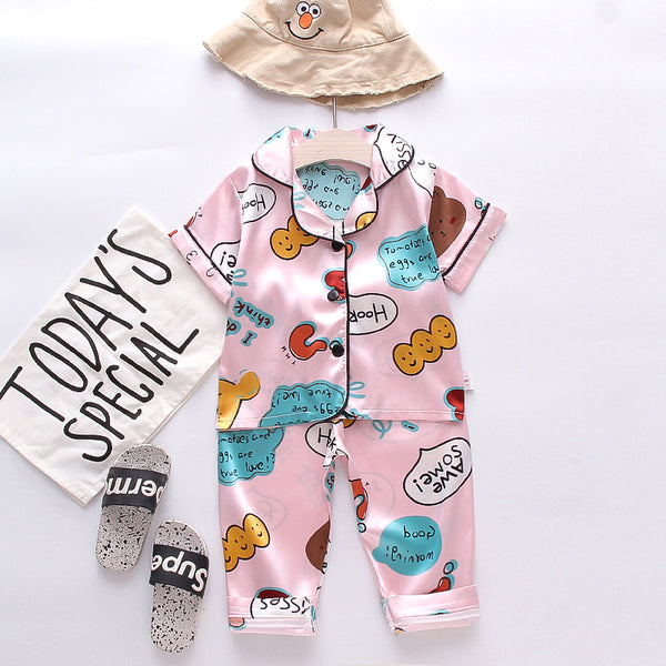 Pink Multi Print night suit