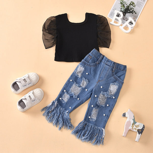 Top and Denim Set