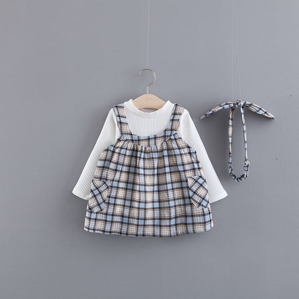 Checkered Dress With Tshirt