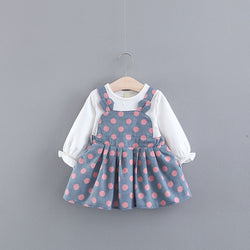 Polka Dots Rabbit Ear Baby Girl Dress