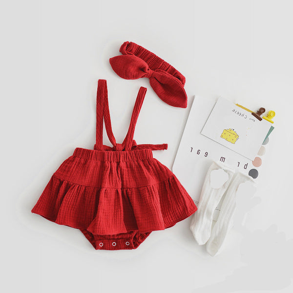 Dress Style Romper With Headband