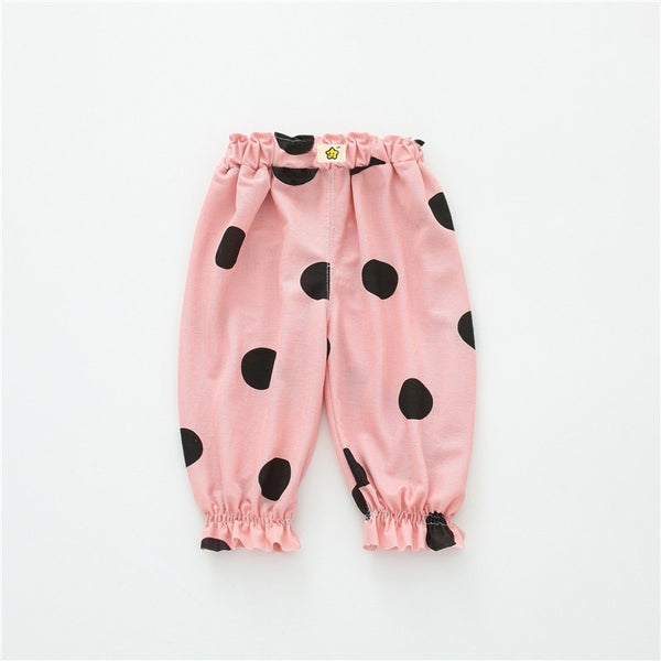 Polka Dotted Balloon Pants