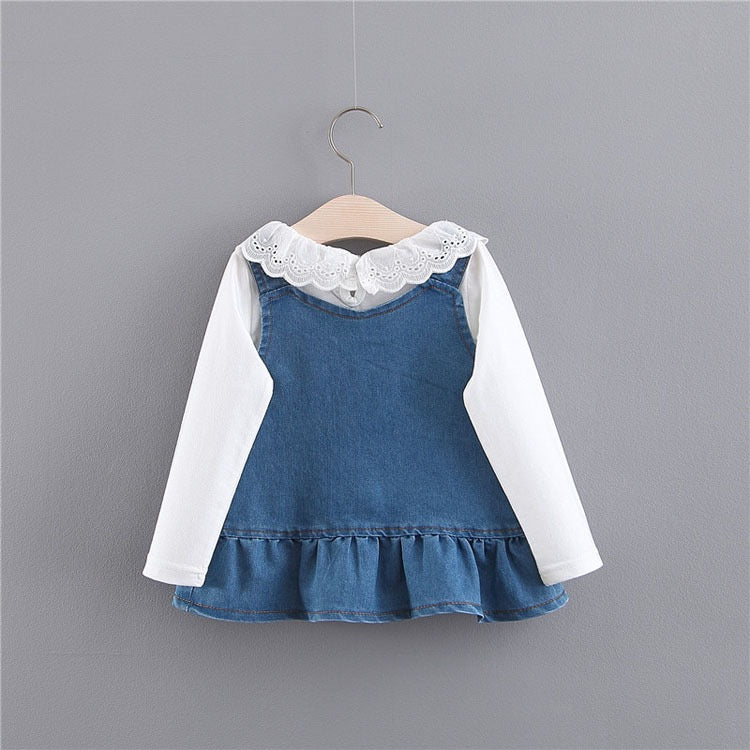 Rabbit Made Denim Overall Dress