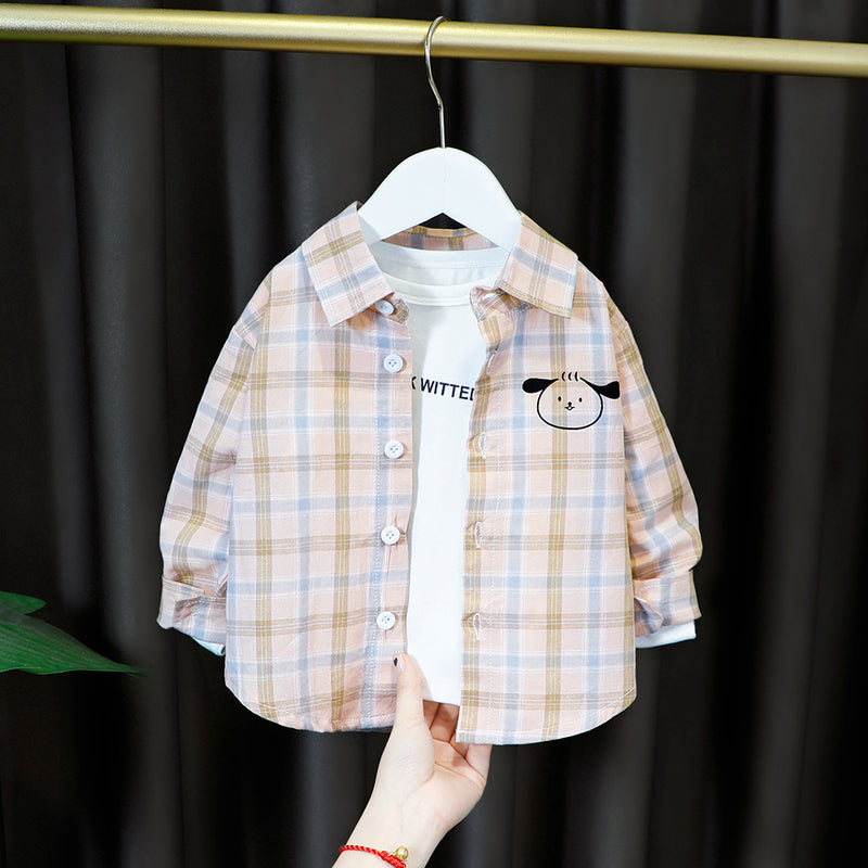 Cute printed checkered shirt