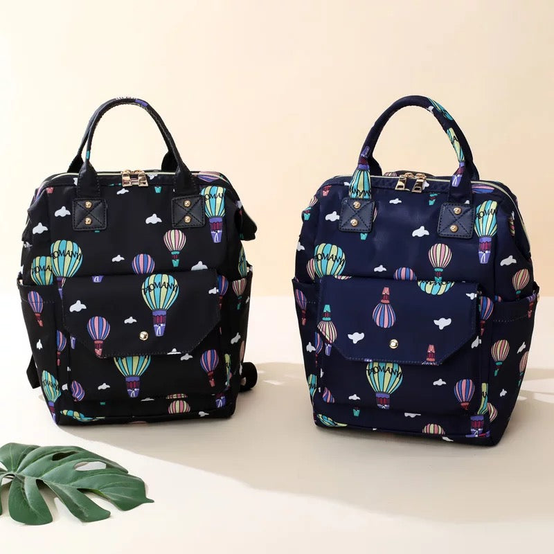 Hot Air Ballon Printed Mini Diaper Bags