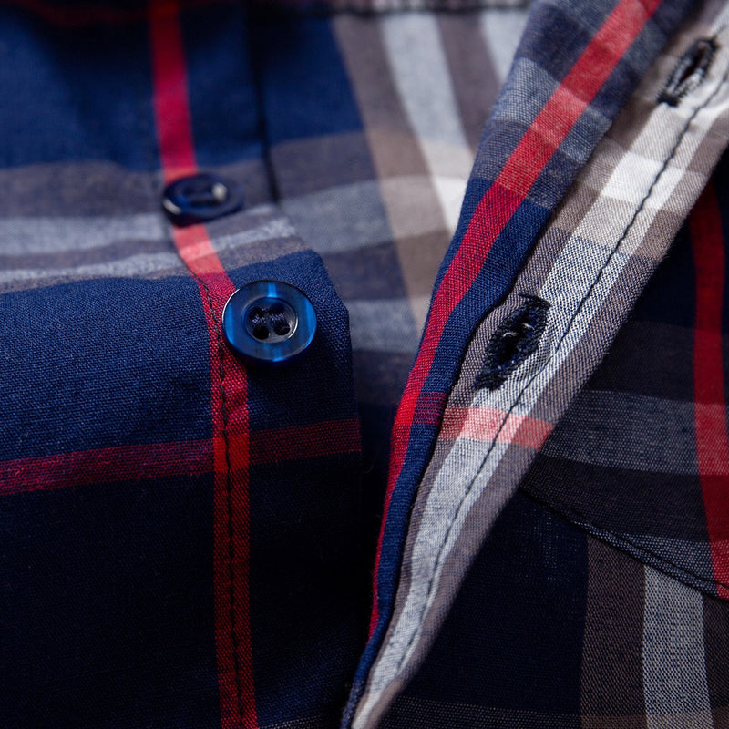 Checks Bow Shirt with Blue Pant Set