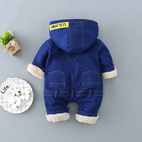 Denim Winter Jumpsuit