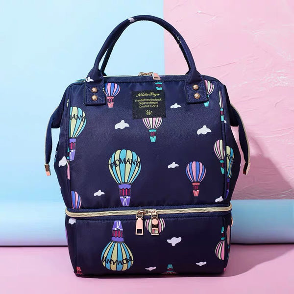 Printed Half Insulated Diaper Bag