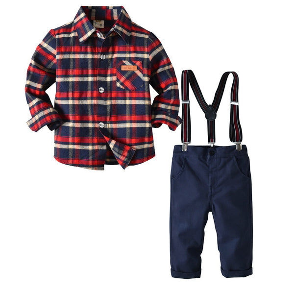 Red Shirt and Blue Pant Set