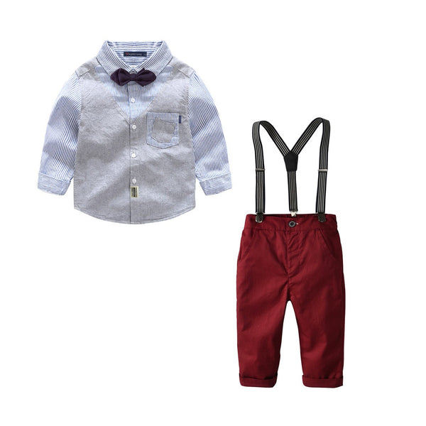 Waist-Coat attached baby set
