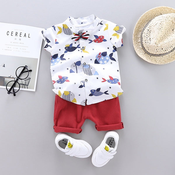 Fish Printed Summer Set