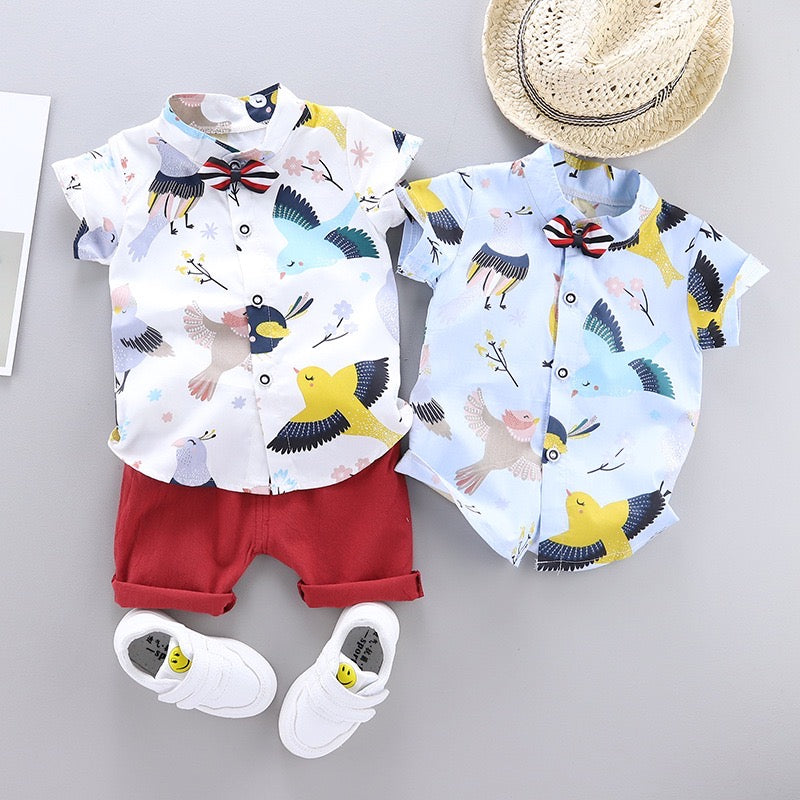 Bird Printed Summer Set