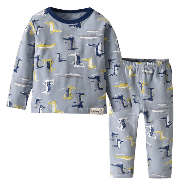 Crocodile Printed Baby Night Suit