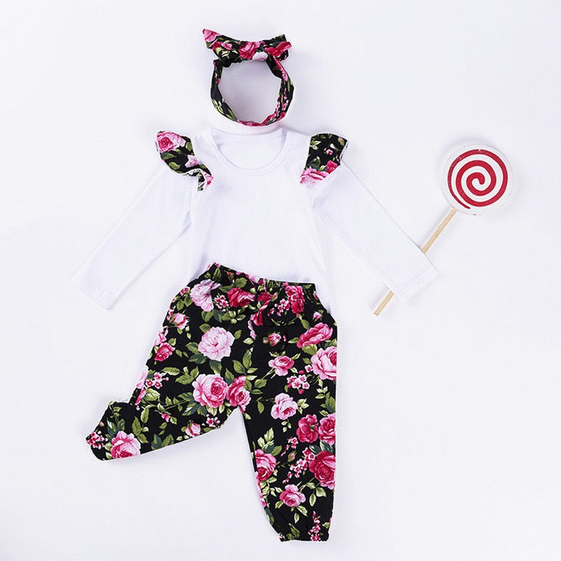 Bow Floral Baby Girls Set
