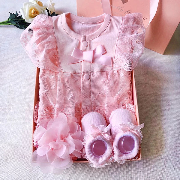 Romper And Shoes And Headband Gift Set