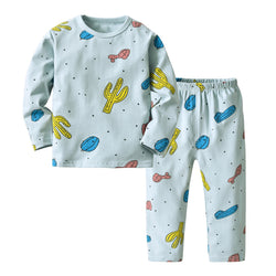 Blue Cactus Baby Night Suit